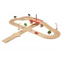 Spielzeug Straße 38-teilig, auch für Holzeisenbahn