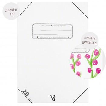 Schulheft blanko – Lineatur 20 DIN A4 alle Klassenstufen