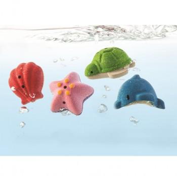 Meerestiere Badewannenspielzeug Holz