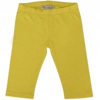 3/4 Leggings uni in limonen-gelb