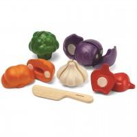 Gemüse zum Schneiden 5-tlg Set mit Holzmesser