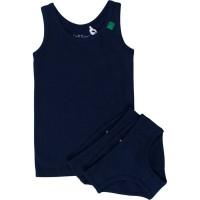 Set 1 Unterhemd 2 Slips navy