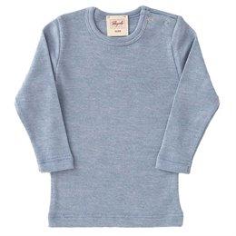 Wolle Seide Langarmshirt hellblau