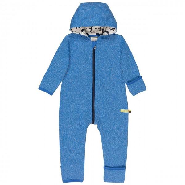 Warmer Strickoverall Pinguin blau