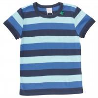 griffiges T-Shirt Block-Streifen blau
