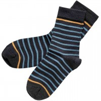 Kinder Socken geringelt blau