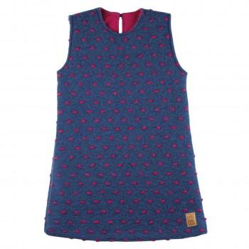 Kleid hochwertige Merinowolle Indigo lila