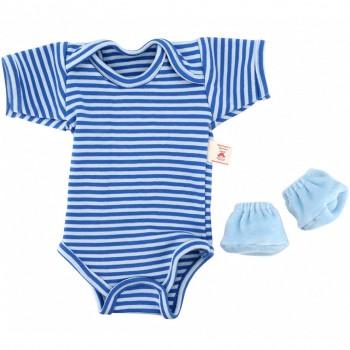 Puppenkleidung: Zubehör Große Babypuppe (blau)