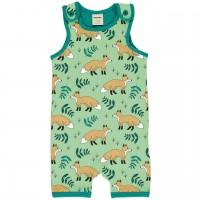 Sommer Strampler Beachbody Füchse hellgrün