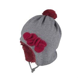 Kuschelige Plüsch Wintermütze außen Wolle
