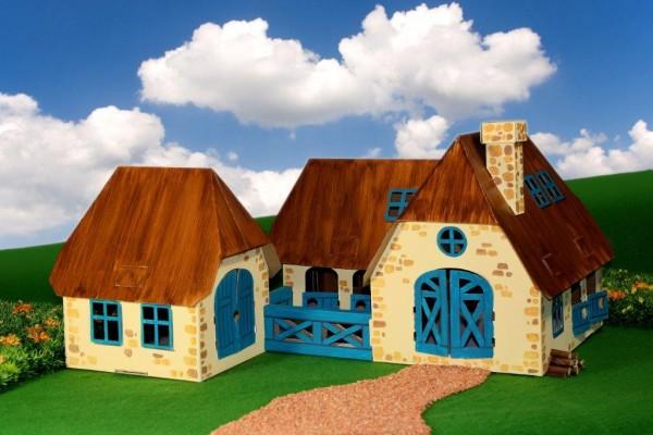 Bauernhof Bestseller! Puppenhaus zum Stecken, malen & spiel
