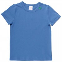 Shirt kurzarm Basic in blau