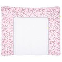 Große Wickelauflage-Bezug pink 85x75cm