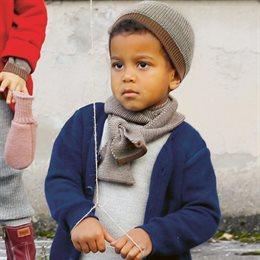 Schal Wolle ab 2 - 12 Jahre braun