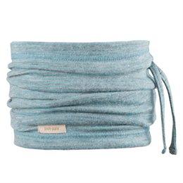 Wolle Seide 3in1 Schlauchschal Beanie in einem blau