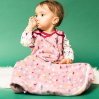 Warmer Baby Schlafsacke Rehe in weinrot