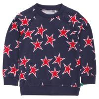 Sternen Langarmshirt bequemer Schnitt mit Bündchen