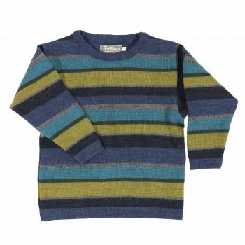 Warmer Jungen Pullover Schurwolle blau