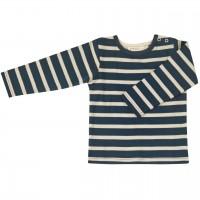 Shirt Langarm navy-creme gestreift