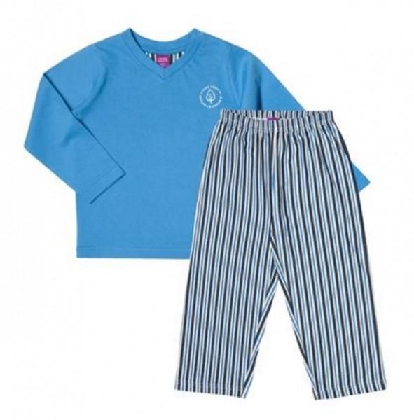 Leichter Schlafanzug BIO für Jungen mit kuschligem Oberteil