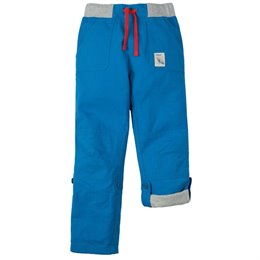 Roll Up Outdoorhose mit Gummibund blau