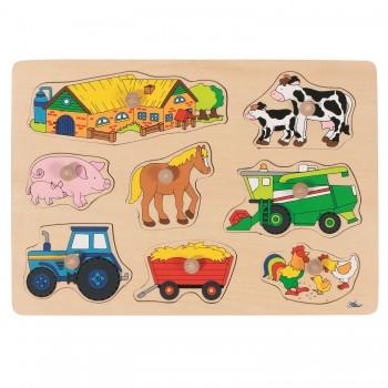 Steckpuzzle Landwirtschaft - 8 tlg