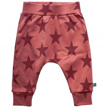 Krabbelhose Sterne Bündchen kräftiges rosa