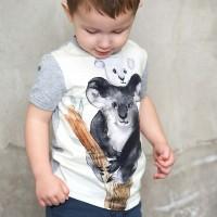 Cooles T-Shirt Koala Design in hellgrau