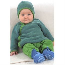 Mitwachsende Strick Leggings 100% Merino Schurwolle grün