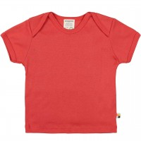 Leichtes Uni Kurzarm Shirt Basic in rot