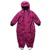 Sternen Schnee-Overall pink-violet