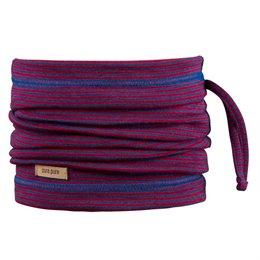 Wolle Seide 3in1 Schlauchschal Beanie in einem rot blau