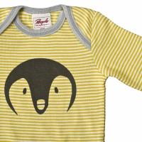 Vorschau: Bio Body Pinguin gelb feine Rippe