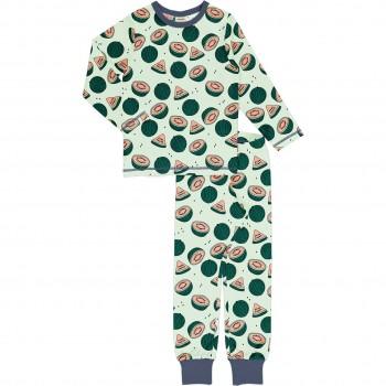 Wassermelonen Schlafanzug langarm grün