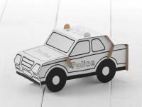 """Polizeiauto zum Stecken, malen & spielen """"Stufe einfach"""""""