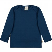 Leichtes Ripp Shirt langarm in dunkelblau