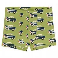 Boxershorts Autos in grün