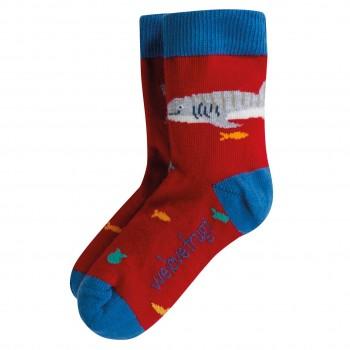 Kinder Socken Fische in rot