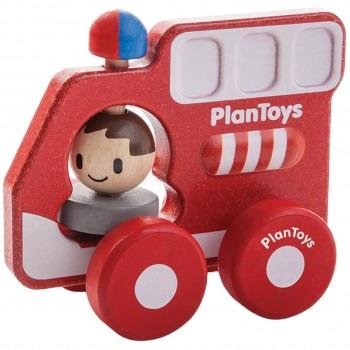 Plantoys Feuerwehrauto Schiebefigur ab 12 Monate