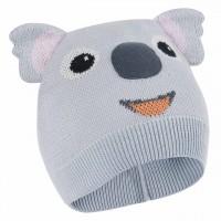 Koala Mütze mit Öhrchen in grau
