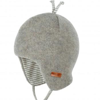 Graue Baby Wintermütze beliebter Klassiker