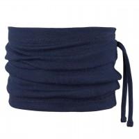 Wolle Seide 3in1 Schlauchschal Beanie dunkelblau