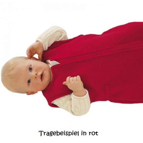 Ganzjahres Baby Schlafsack Schurwolle rosa