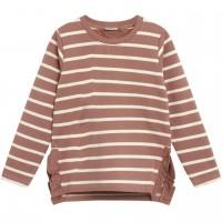 Kuscheliges Sweatshirt Streifen creme-altrosa