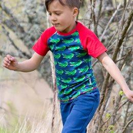 Slim Fit T-Shirt schmaler Schnitt Krokodil