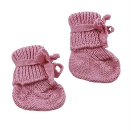 Bio warme Babysocken kbT Schurwolle - rosa