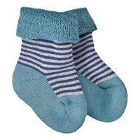 Warme Frotteesocken blau pastell