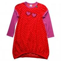 Ballon Kleid Herzchen in rot
