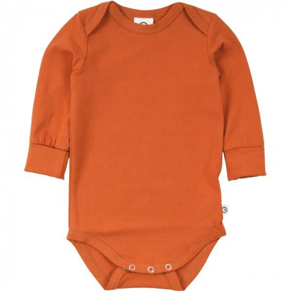 Leichter Body langarm edel rost-orange