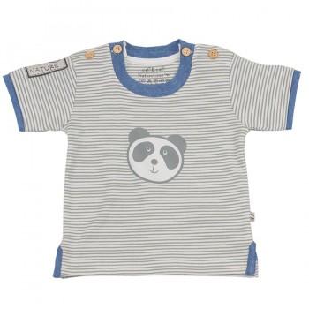 Dickeres Baby T-Shirt Panda mit 4 Knöpfen